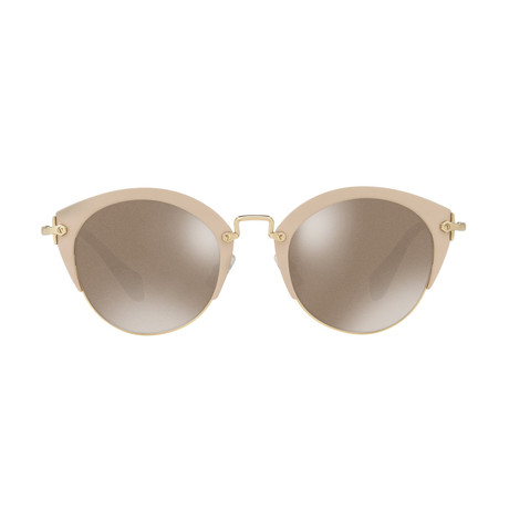 Miu Miu // Cateye Women's Sunglasses // Silver + Brown