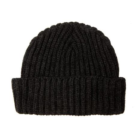 Fisherman's Beanie W/ Italian Merino Wool // Dark Charcoal