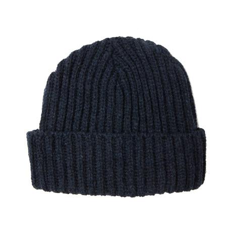 Fisherman's Beanie W/ Italian Merino Wool // Navy