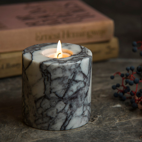 Lilac Cylindrical Candle Holder // Tealight (Small)