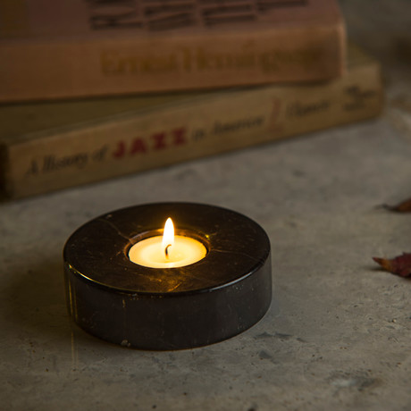 Nero Cylindrical Candle Holder // Tealight (Small)