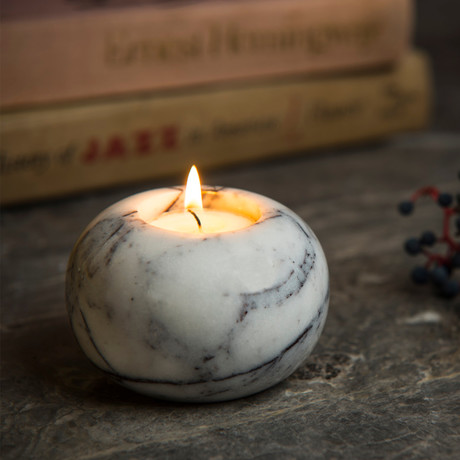 Lilac Spherical Candle Holder