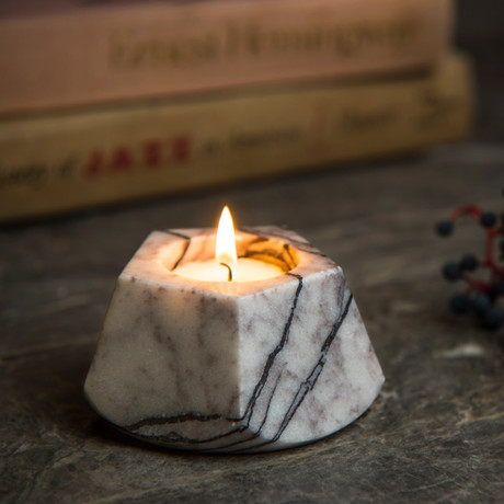 Lilac Pentagonal Candle Holder (Small)