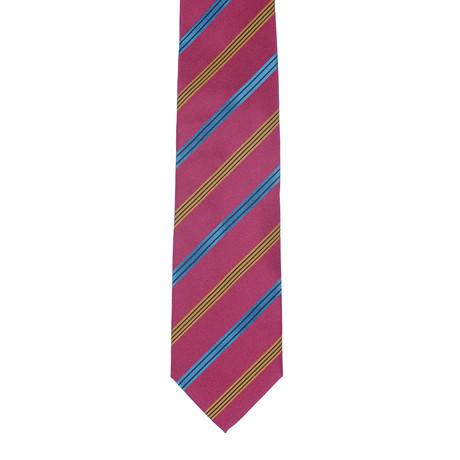 Borelli Napoli // Striped Tie // Maroon + Multi
