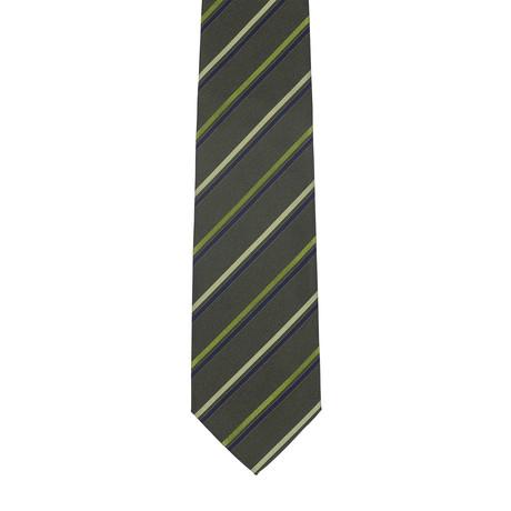 Borelli Napoli // Striped Tie // Green