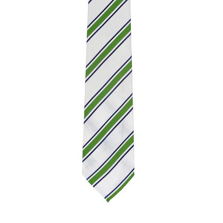 Borelli Napoli // Striped Tie // White + Green