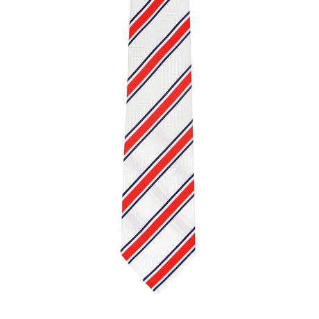 Borelli Napoli // Striped Tie // White + Red