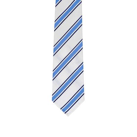 Borelli Napoli // Striped Tie // White + Blue