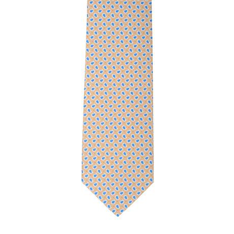 Borelli Napoli // Mini Paisley Tie // Blue + Gold