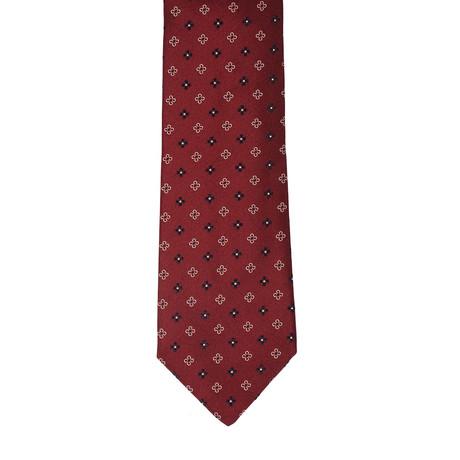 Borelli Napoli // Geometric Tie // Maroon