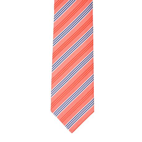 Borelli Napoli // Striped Tie // Salmon