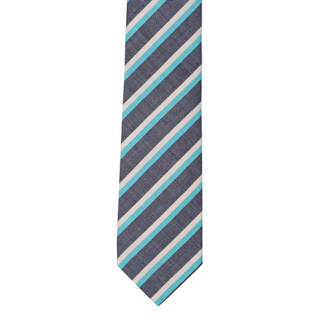 Borelli Napoli // Striped Tie // Gray + Multi