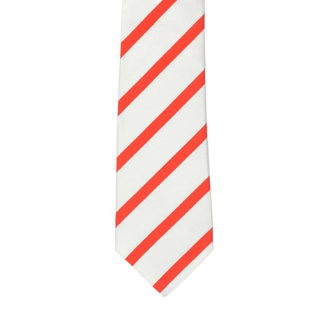 i Gemelli // Striped Tie // White + Red