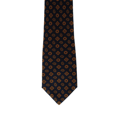 i Gemelli // Geometric Tie // Navy Blue + Rust