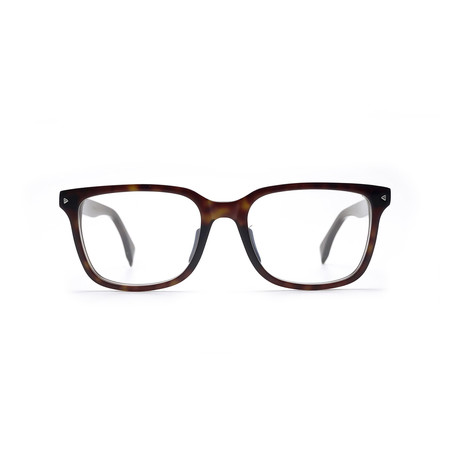 Fendi // Rectangle Eyeglass Frame // Havana Black
