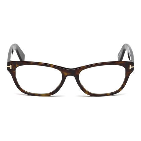 Tom Ford // Unisex Squared Eyeglass Frames // Dark Brown