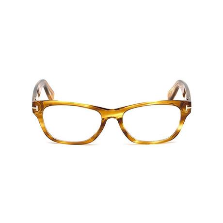 Unisex Squared Eyeglass Frames // Light Havana