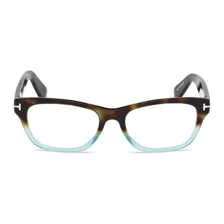 Tom Ford // Unisex Squared Eyeglass Frames // Havana Blue