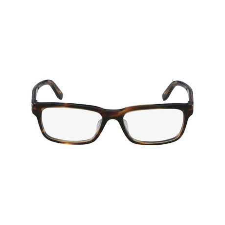 Ferragamo // Rectangle Eyeglasses // Havana
