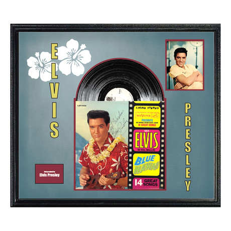 "Signed + Framed Album Collage // ""Blue Hawaii"" // Elvis Presley"