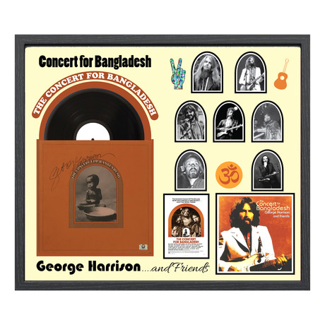 "Signed + Framed Album Collage // George Harrison ""The Concert For Bangladesh"""