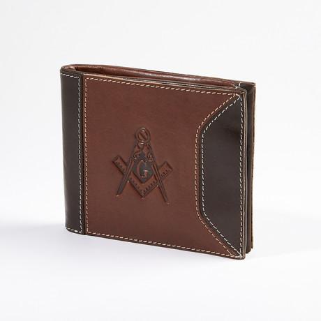 Traveler Premium Leather Masonic Wallet