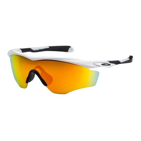 Oakley // Men's OO9343-05 Sunglasses // White + Fire Iridium