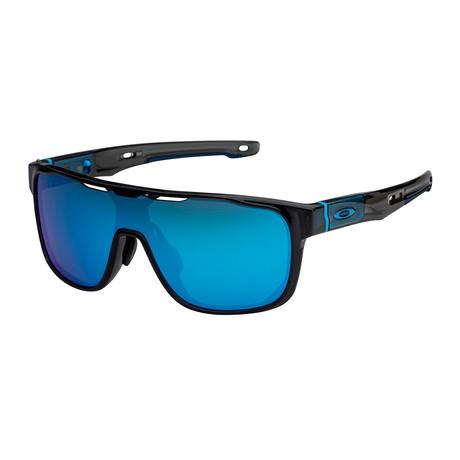 Men's Crossrange Shield Sunglasses // Black + Prizm Sapphire