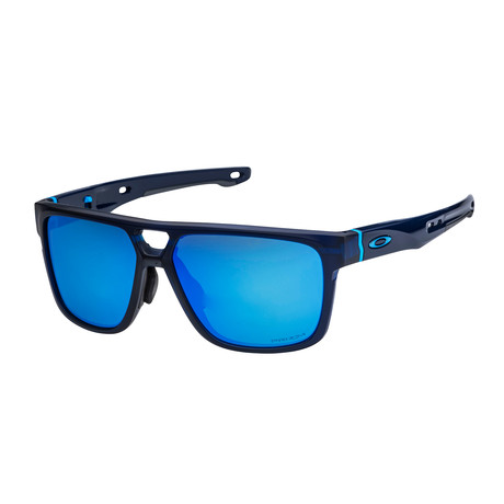 Men's Crossrange Patch Sunglasses // Matte Blue + Prizm Sapphire