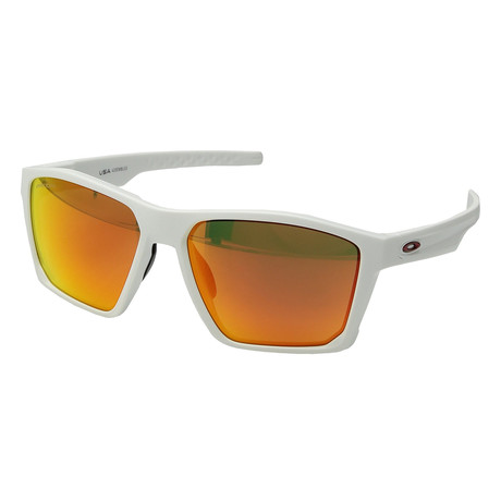Men's Targetline Sunglasses // Matte White + Ruby
