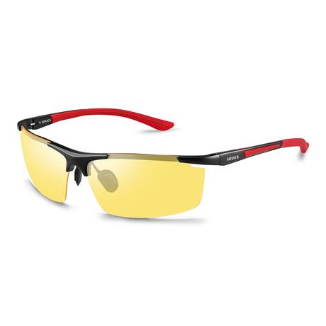 Night Vision Glasses // 3319-1 // Black + Red