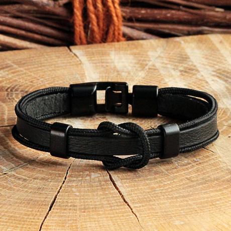 Anthracite Coating Bracelet // Knot