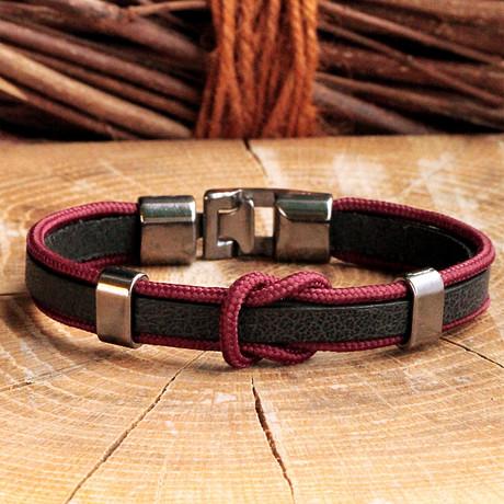 Matte Black Coating Bracelet // Knot