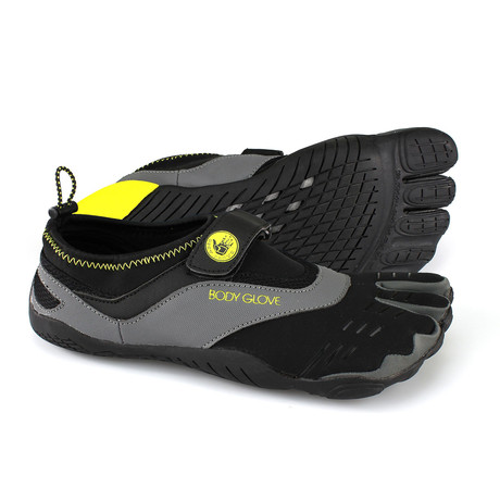 3T Barefoot Max // Black + Yellow (US: 7)