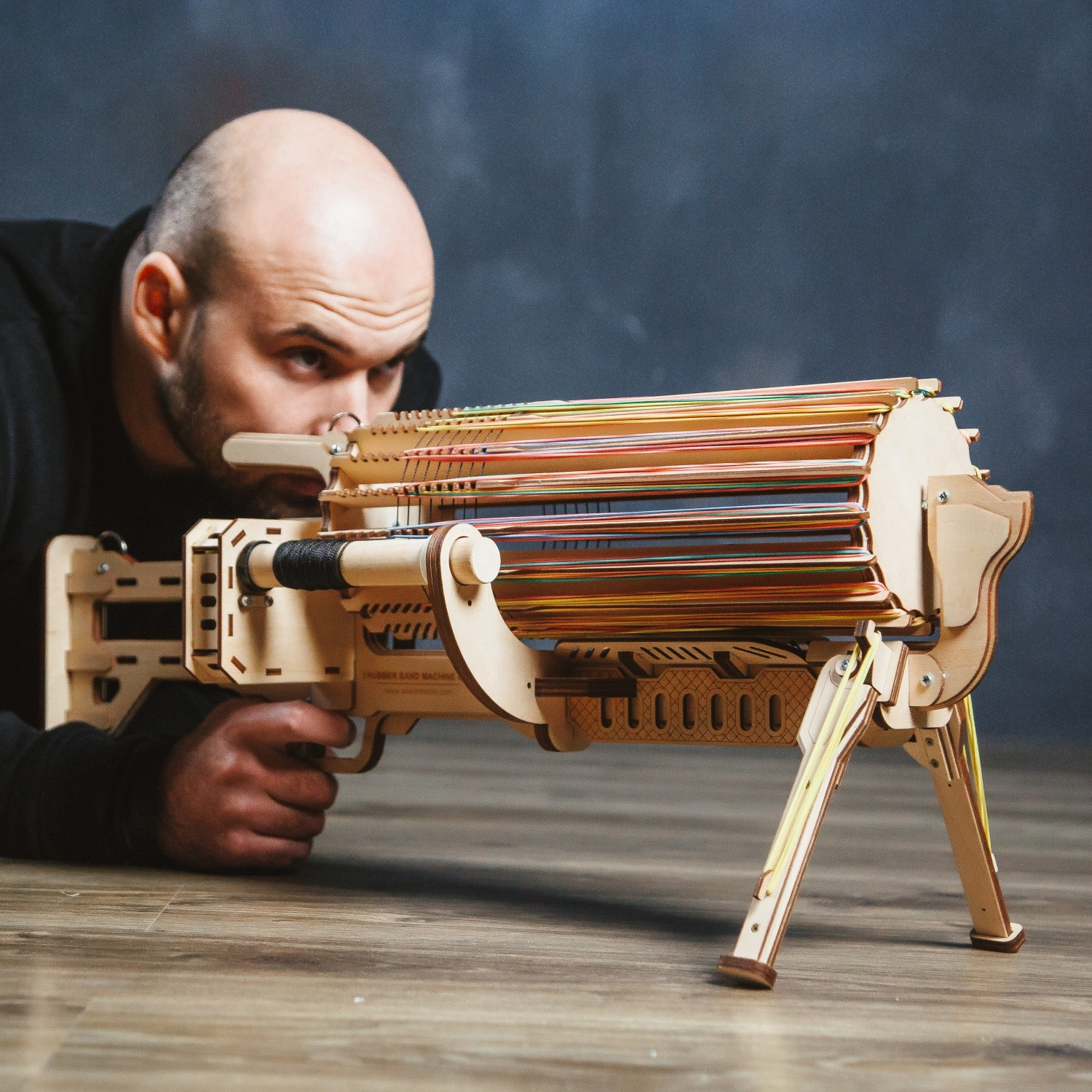 The Ultimate Rubber Band Machine Gun Woodnboom Touch