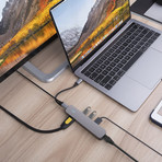 HyperDrive 6-in-1 USB-C Hub + 4K HDMI Output // Space Gray