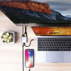HyperDrive 3-in-1 USB-C Hub + 4K HDMI Output // Silver