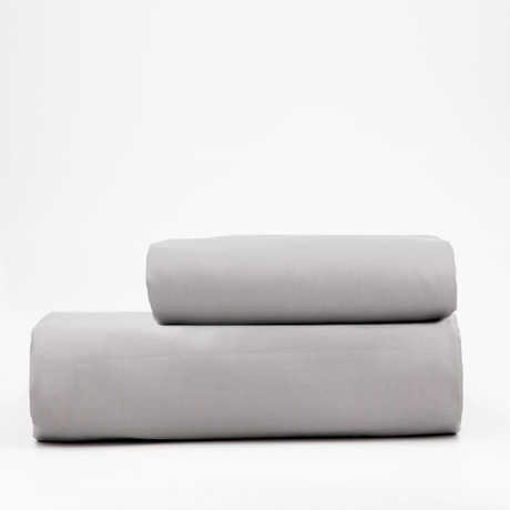 Percale Top Sheet & Duvet Cover Set // Earl Gray (Full)