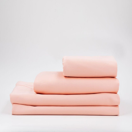 Percale Complete Bedding Set // Pearl Blush (Full)