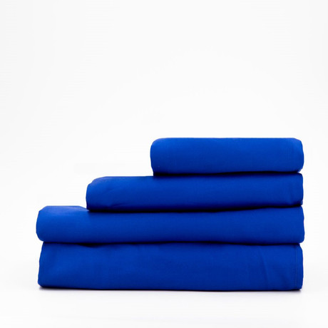 Percale Complete Bedding Set // Sapphire Blue (Full)