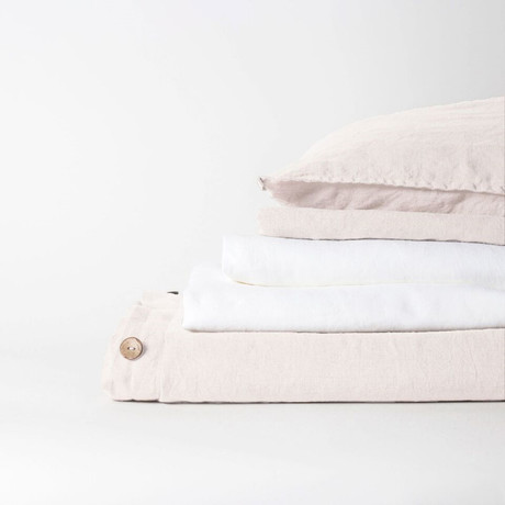 Linen Complete Bedding Set // Cream (Full)