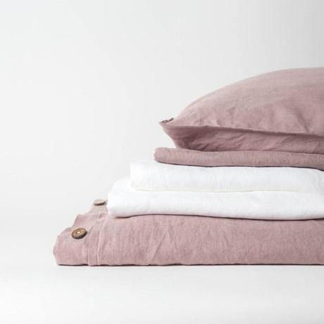 Linen Complete Bedding Set // Rosewood (Full)