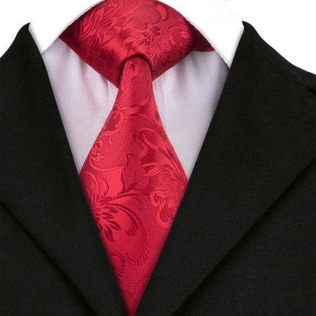 Rose Handmade Tie // Red