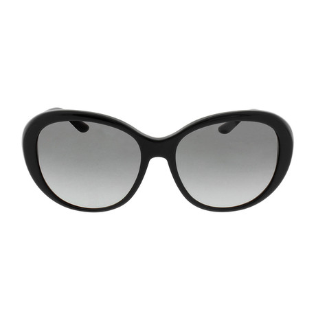 Versace // Acetate Women's Butterfly Sunglasses // Black + Grey Gradient