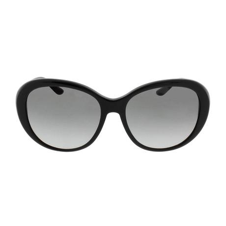 Versace // Acetate Women's Butterfly Sunglasses // Black + Grey Gradient