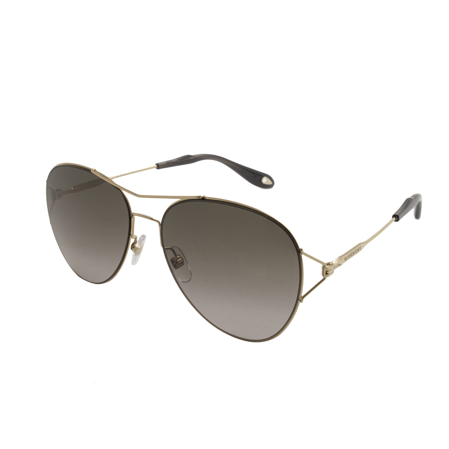 bf7785acacc Givenchy    Metal Aviator    Gold + Brown - Women s Designer ...