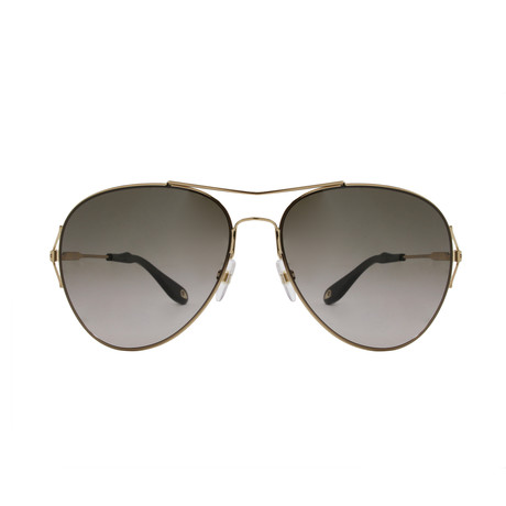 Givenchy // Women's Metal Aviator // Gold + Brown SF