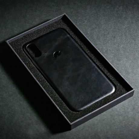 Leather iPhone Case // Black Edition (X/XS)