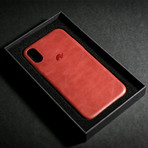 Leather iPhone Case // Crimson (X/XS)