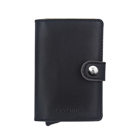 Använda Leather Wallet // Original Black